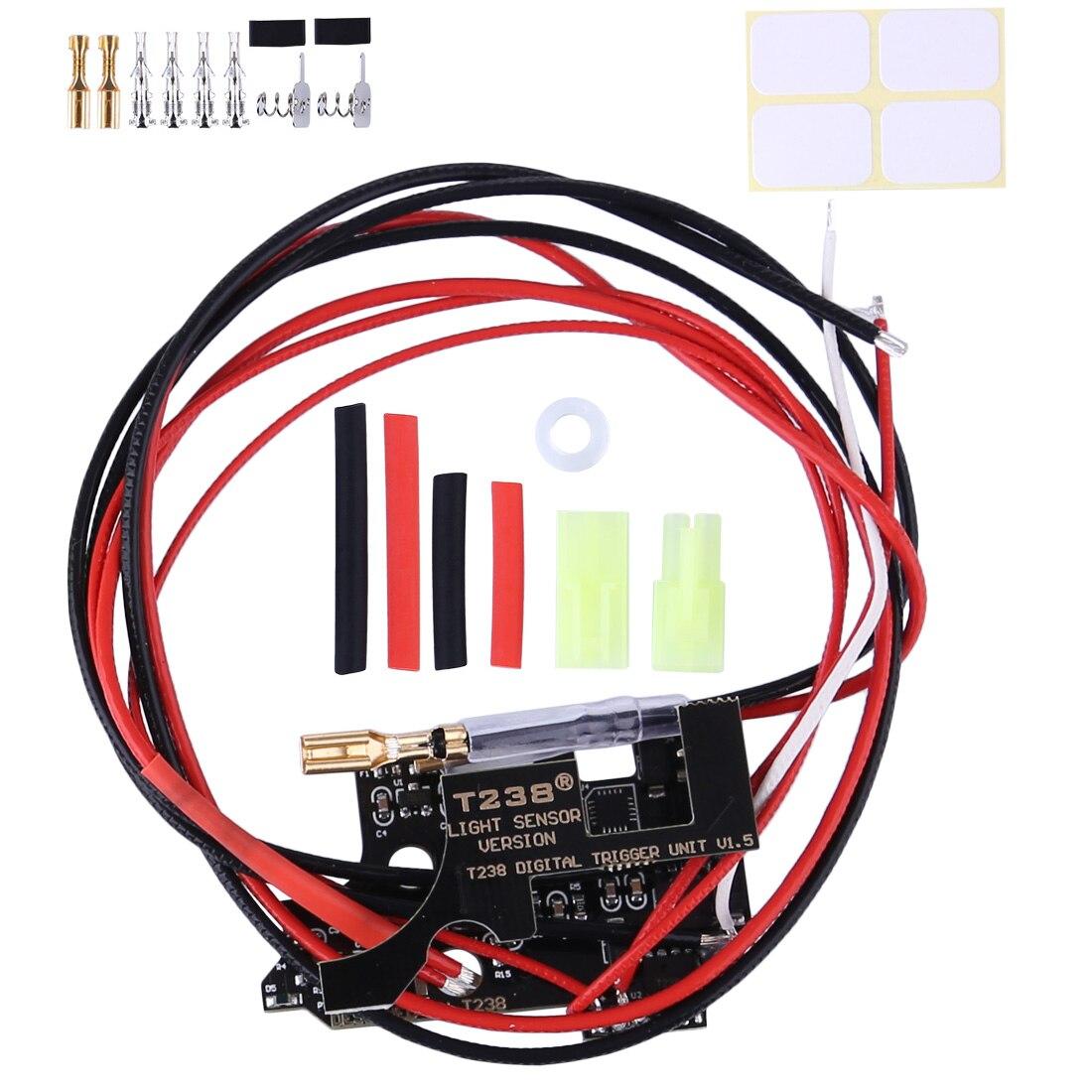 Version 1.7 T238 Programmable MOSFET Electronic Fire Control Module for XWE M4 /JM Gen.9 /FB /Kublai /Jingji /JQ No.2 Gearbox